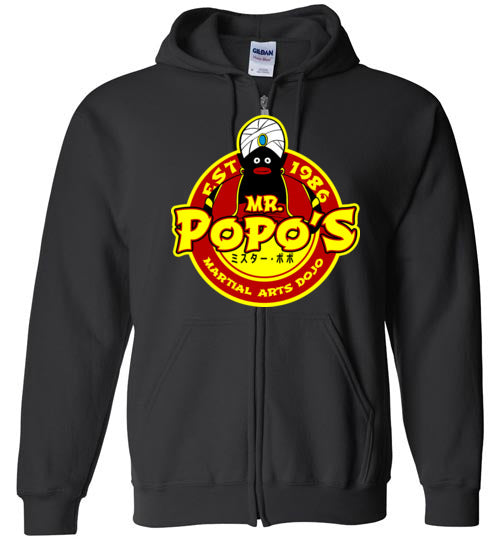 Popo's Dojo-Anime Zipper Hoodies-Carlo1956|Threadiverse