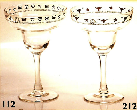 12 OZ. Western Margarita Glasses - Set of 4