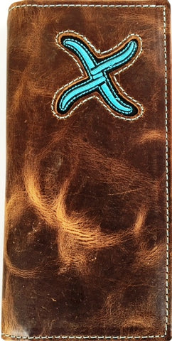 Twisted X Soft Distressed Brown Rodeo Wallet Xrc 4 Wild