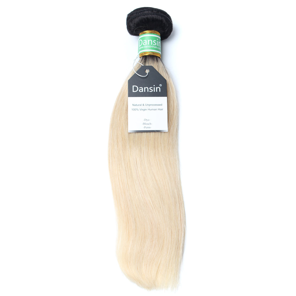 Luxury 10A 1B 613 Blonde Ombre Brazilian Straight Hair 1 Bundle