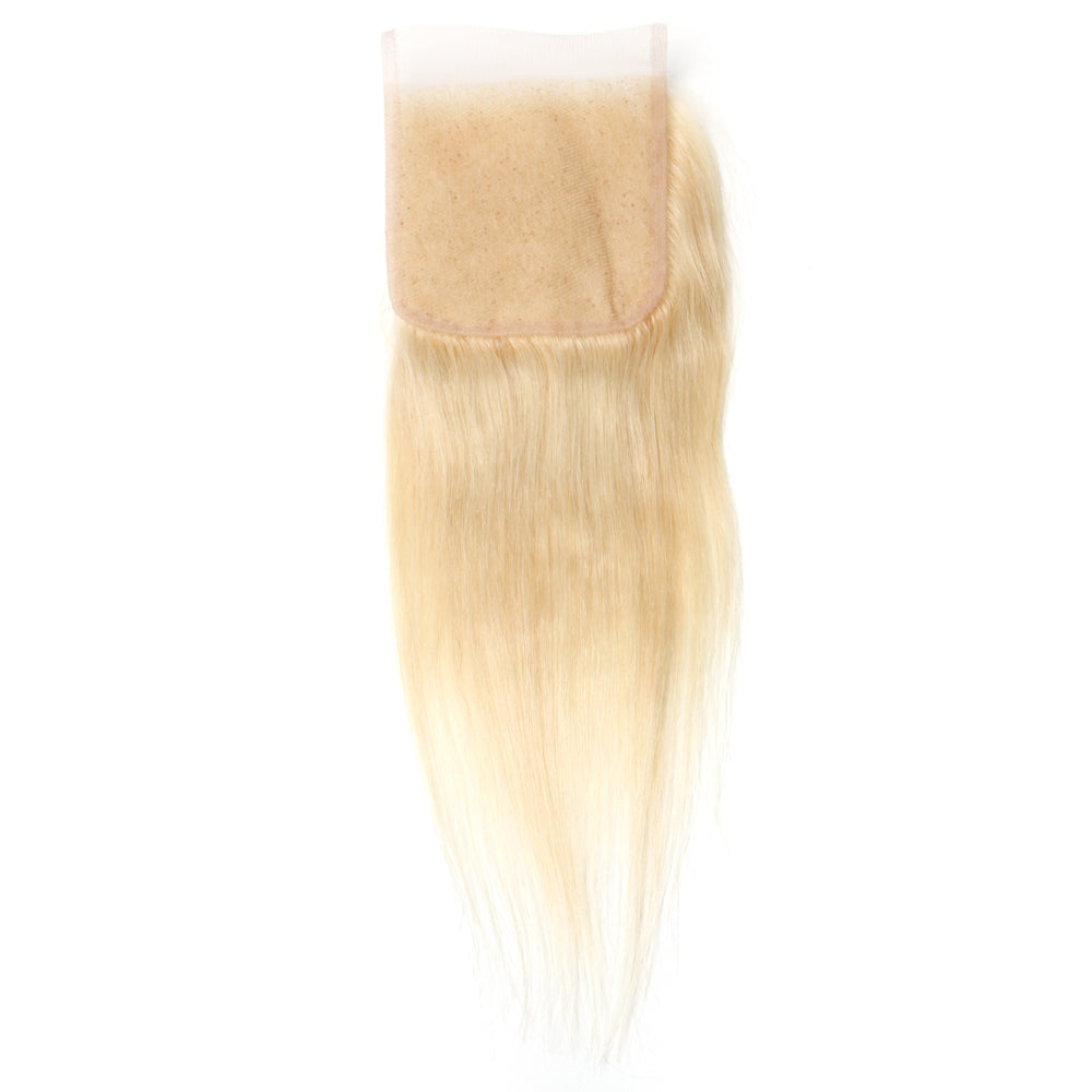 Luxury 10A 613 Blonde Straight Lace Closure Black