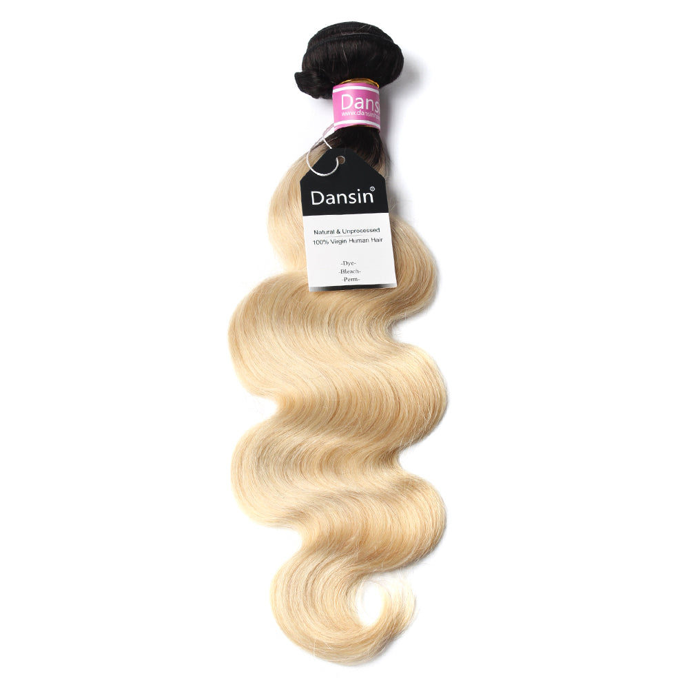 Luxury 10A 1B 613 Blonde Ombre Peruvian Body Wave Hair 1 Bundle