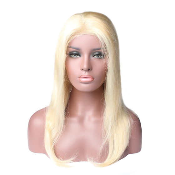 Luxury 130% Density 613 Blonde Straight Human Hair Lace Front Wigs