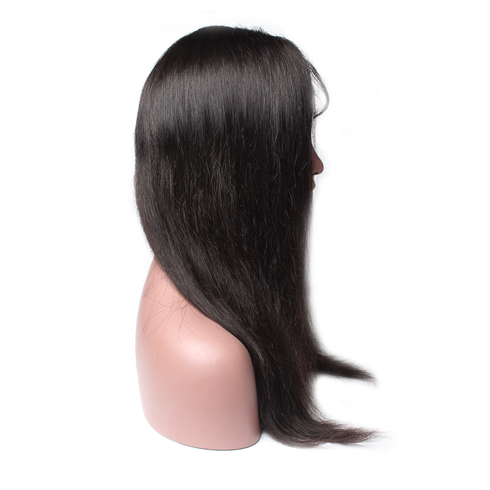 Luxury 130% Density Straight Human Hair Lace Front Wigs Left
