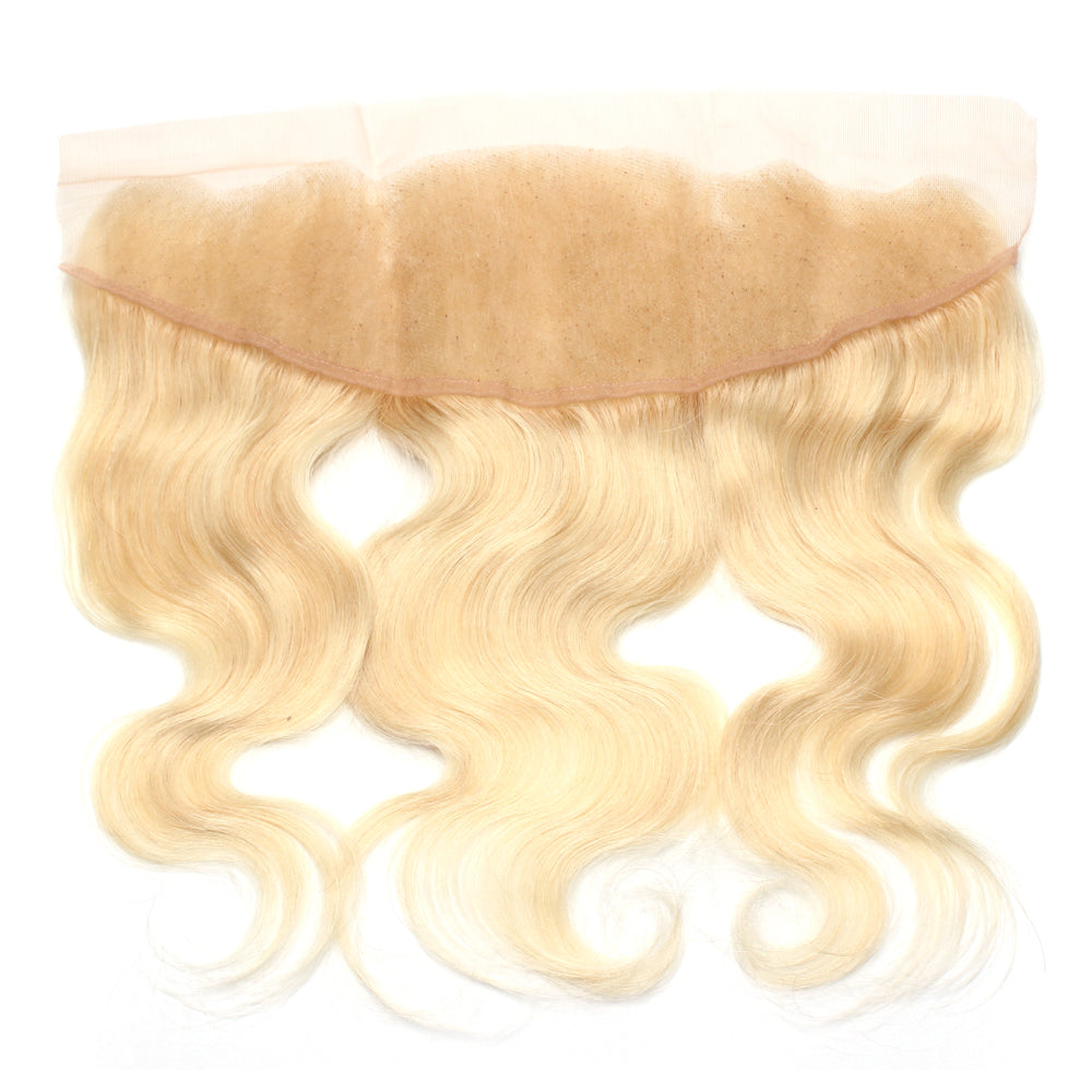 Luxury 10A 613 Blonde Body Wave Lace Frontal Black