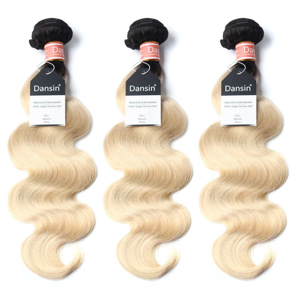 Luxury 10A 1B 613 Blonde Ombre Malaysian Body Wave Hair 3 Bundles