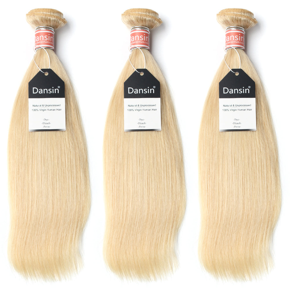 Luxury 10A Malaysian 613 Blonde Straight Hair 3 Bundles