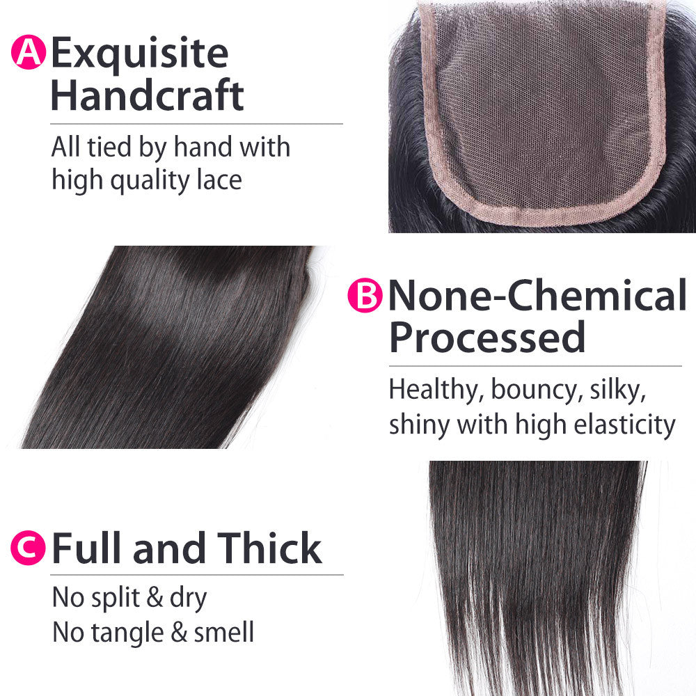 straight lace closure details