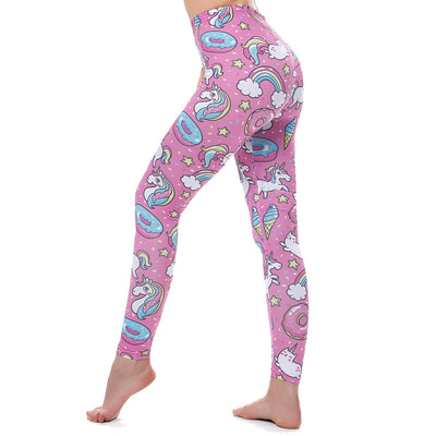 Pink Unicorn Rainbow Leggings