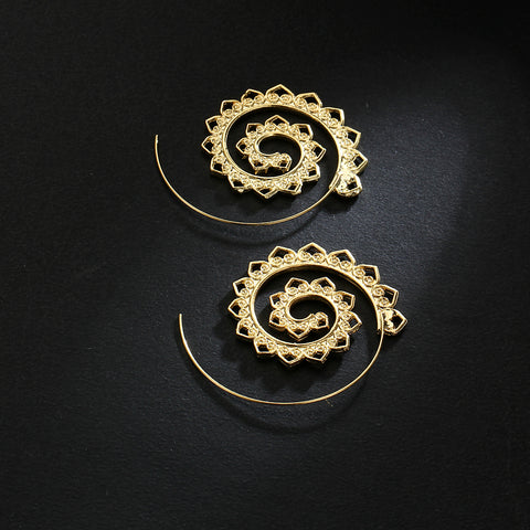 Twisted Wire Exotic Swirl Hoop Earrings 2