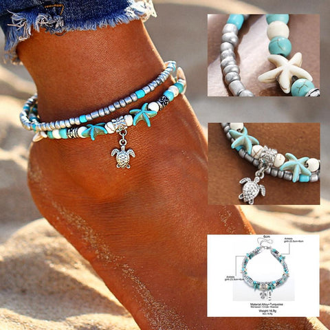 Twisted Wire - Handmade Chic Turtle-Starfish Anklets 4