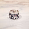 Image of Twisted Wire Vintage Silver Elephant Ring 2