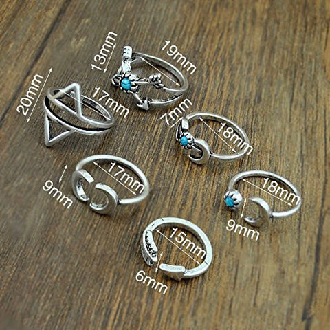 Twisted Wire - Sun & Moon Ring Set 3