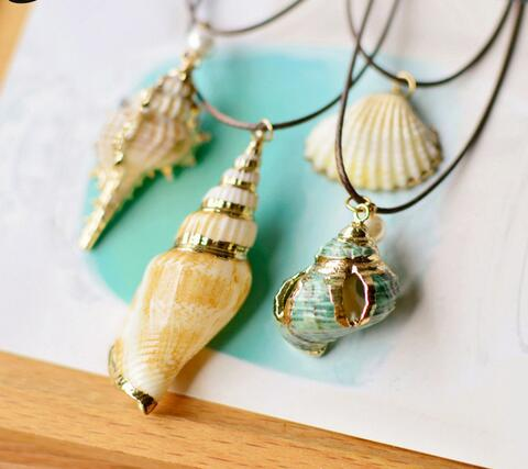 Sealife Pendant Necklaces - Twisted Wire