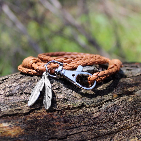 Twisted Wire -  Free-Spirit Feather Bracelet 1