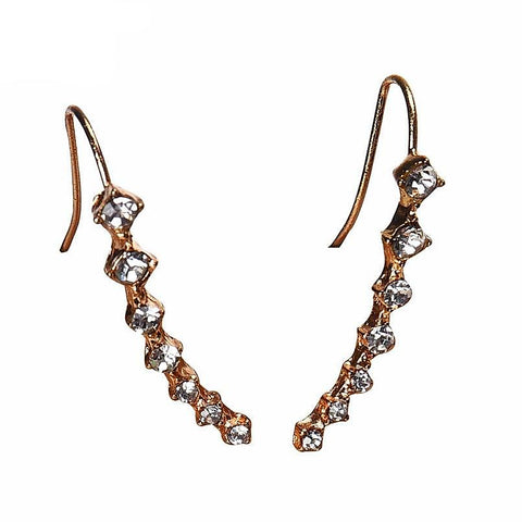 Twisted Wire - Rhinestone Crystal Stud Earrings 5