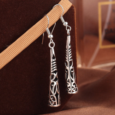 buy Vintage Style Tibetan Earrings Twisted Wire