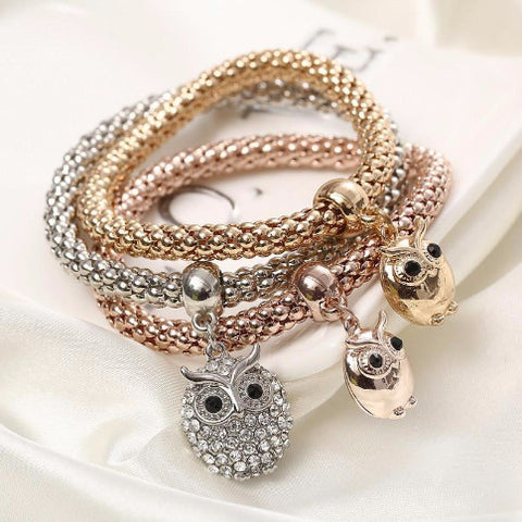 Twisted Wire Bracelet Owl