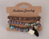 Image of Twisted Wire Multi-Layered Wood & Bead Bracelets with Tassel4