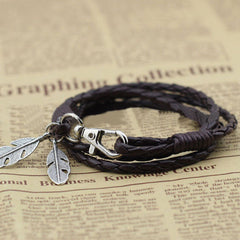 Free-Spirit Leather Bracelet