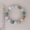 Image of Twisted Wire Multi-Layered Wood & Bead Bracelets with Tassel5