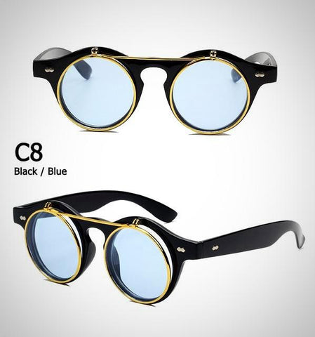 SteamPunk Classic Flip Up Sunglasses Men