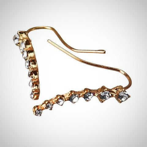 Twisted Wire - Rhinestone Crystal Stud Earrings 3