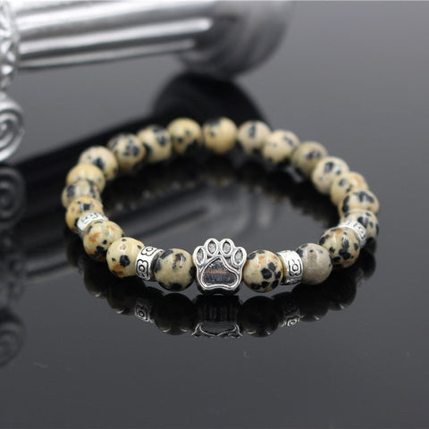 Natural Stone Pitbull Bracelet - Twisted Wire