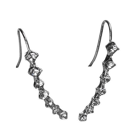 Twisted Wire - Rhinestone Crystal Stud Earrings 4