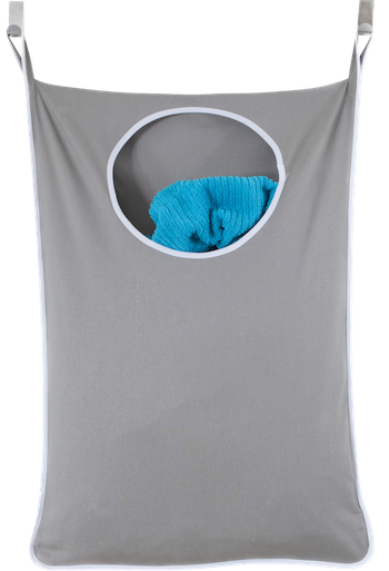 Laundry Nook, Door-Hanging Laundry Hamper with Stainless Steel Hooks