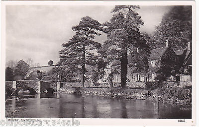 BIBURY, RIVER COLNE - REAL PHOTO POSTCARD (ref 2278)