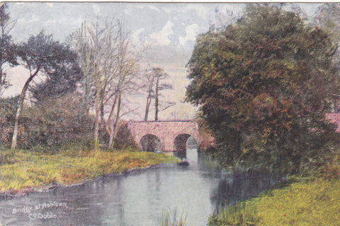 Bridge at Ashtown, Co. Dublin - pre 1918 postcard