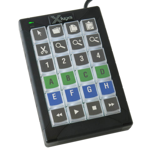 X-keys XK-24 Black & White Keypad