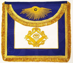 """The Man Who Would Be King"" Masonic Apron, Gold"