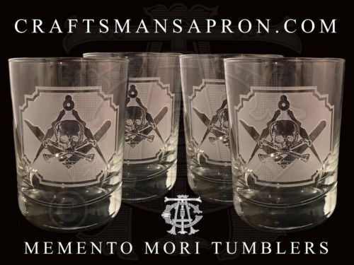 Silence & Circumspection Masonic Rocks Glasses (Set of 4)