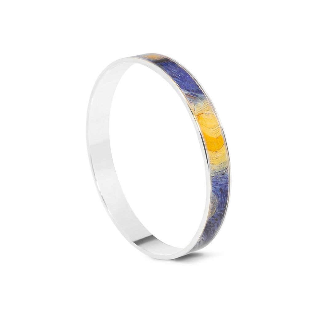 Silvertone The Starry Night Bangle Bracelet
