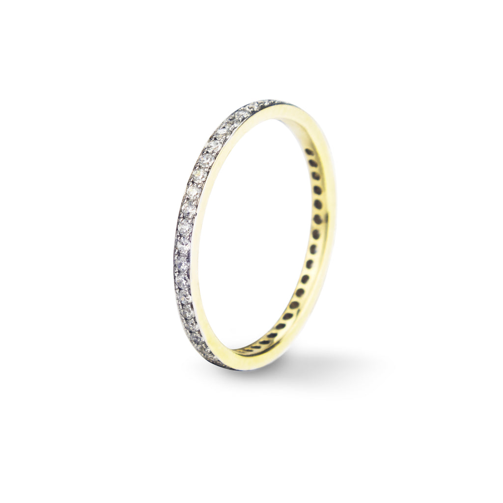 14K Yellow Gold  Eternity band Ring