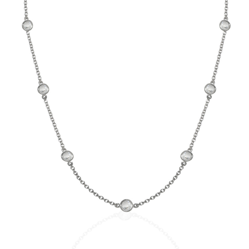 Sterling Silver Diamond by the Yard 16""
