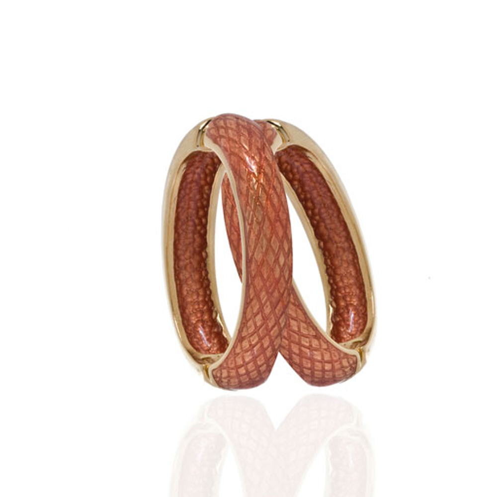 Snakeskin Orange Hoop-Eze Earrings