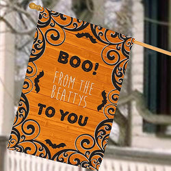 Personalized Boo to You House Flag-Halloween House Flag-Custom House Flag