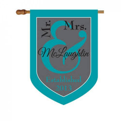 Personalized Mr. and Mrs. House Flag-Monogram Mr. and Mrs. House Flag-Wedding House Flag