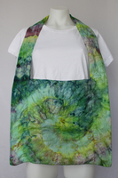 Ice dye Shoulder bag cotton purse - Fresh Cut Flowers twist