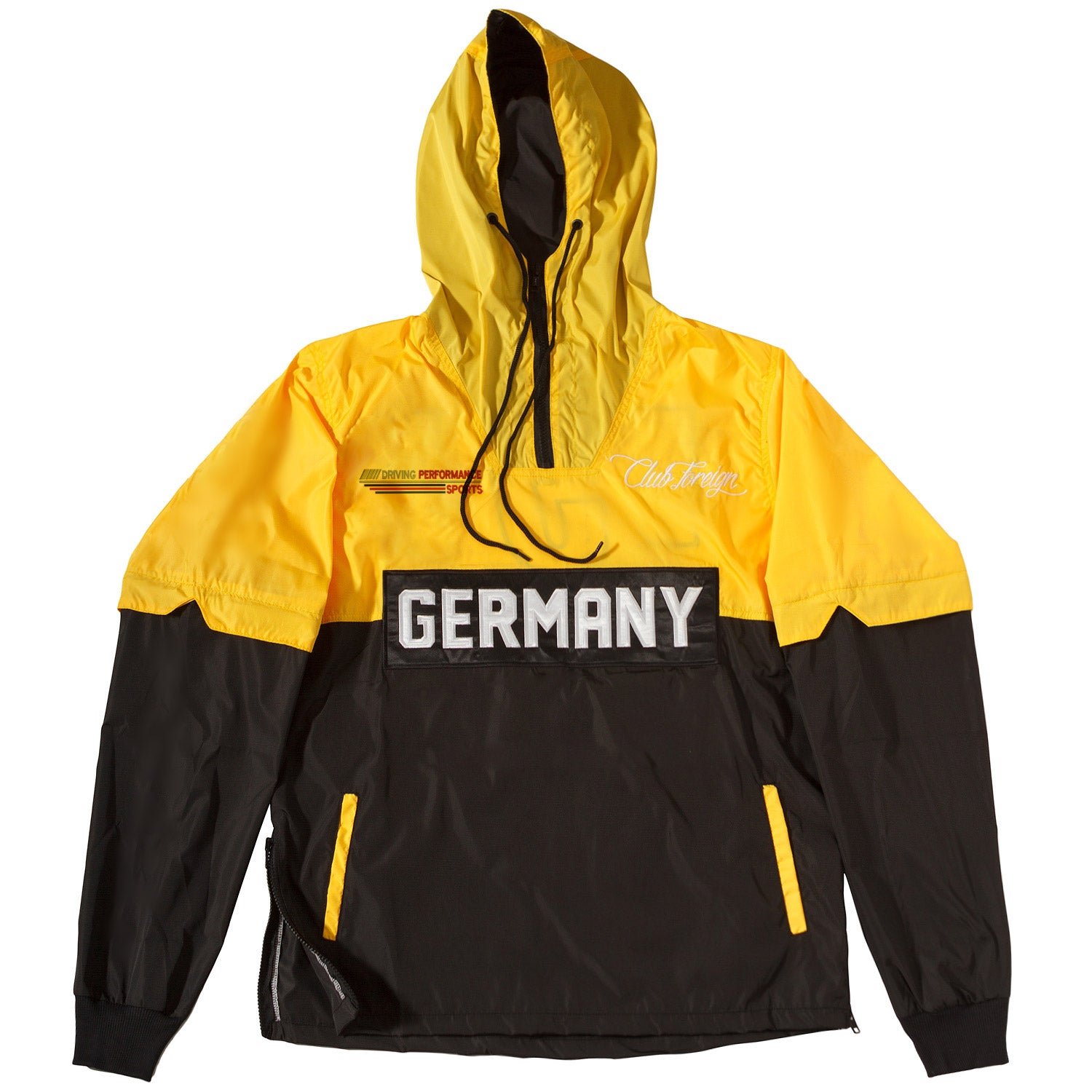 ClubForeign Performance Windbreaker Jacket Yellow Black - Trends Society