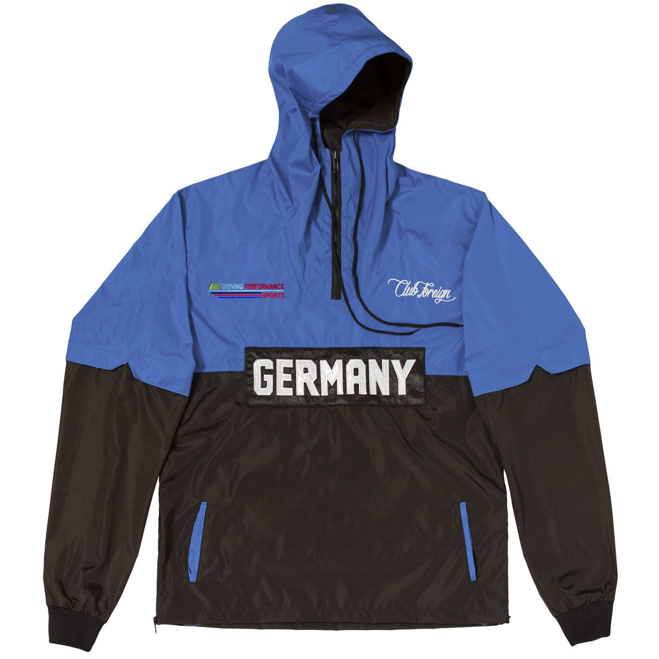 ClubForeign Performance Windbreaker Jacket Blue Black - Trends Society