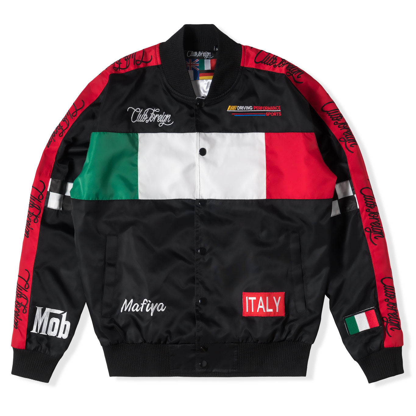 "Club Foreign Performance Italy ""Mob"" Bomber Jacket - Trends Society"