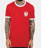 English Rose - Red/White Ringer T-Shirt