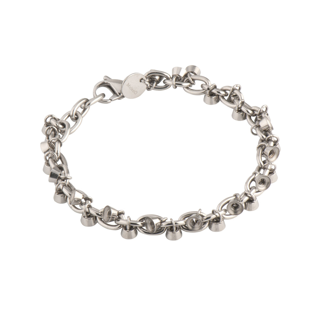 MelanO stainless steel collector 26 charm bracelet - Ellimonelli