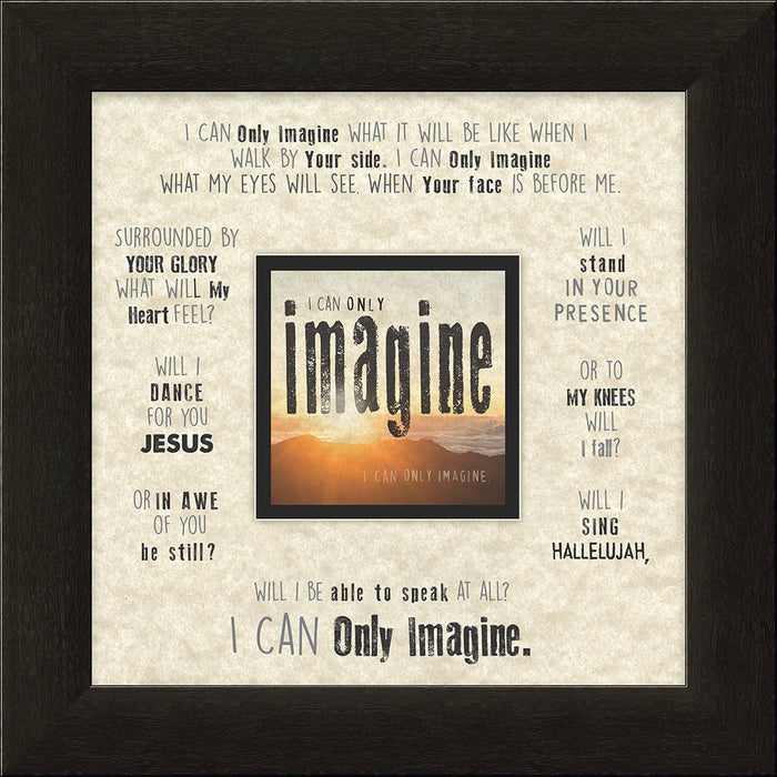 I CAN ONLY IMAGINEä‹ (what it will be like) Sunset Framed Art - Carpentree