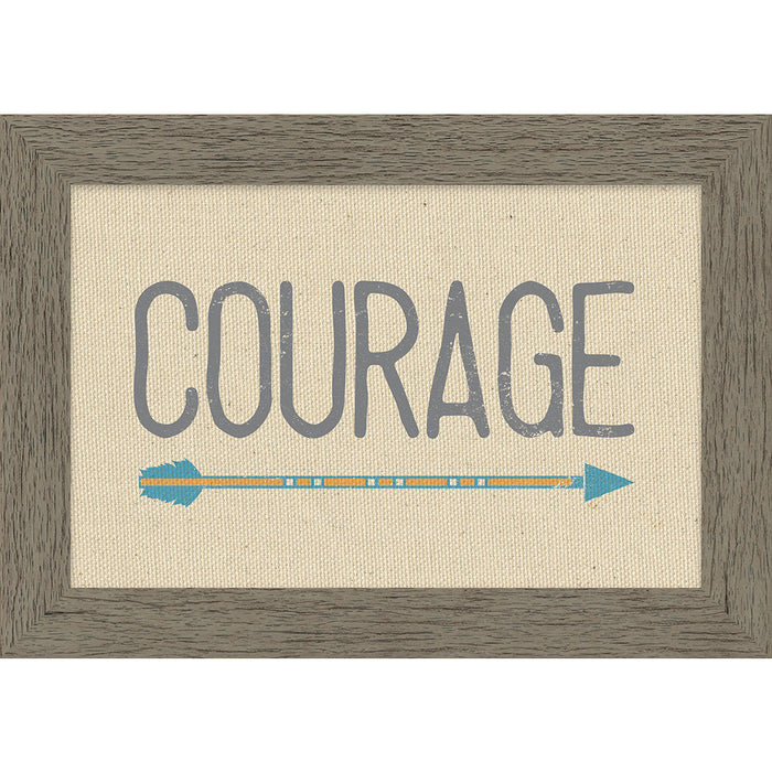 Courage Framed Natural Canvas - Carpentree