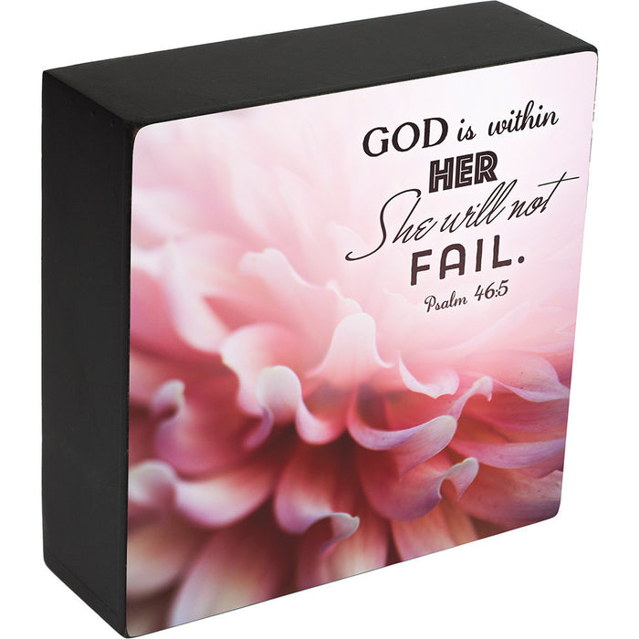 God Is Within Her Box Plaque - Carpentree